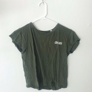 PacSun Navy Green T-shirt
